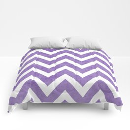 purple chevron Comforters