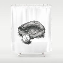 Baseball by James Skistimas Shower Curtain