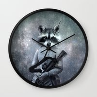 gangster Wall Clocks featuring Gangster by ppatphoto
