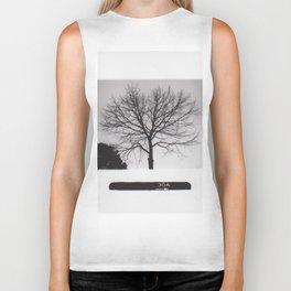 Black & White Tree Biker Tank