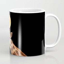 Giraffe And The Moon On A Black Background #decor #buyart #society6 Coffee Mug