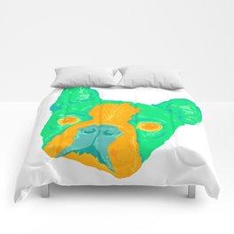 boston terrier - wht Comforters