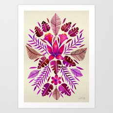 Tropical Symmetry – Magenta Art Print