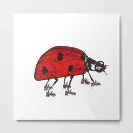 Ladybug Wearing Tap Shoes Gotta Dance Metal Print