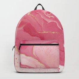 Pink Alcohol Ink Backpack