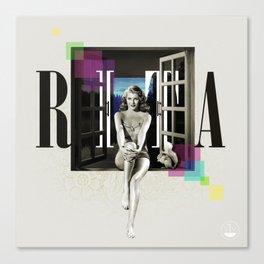 Divas: Rita Hayworth. Canvas Print