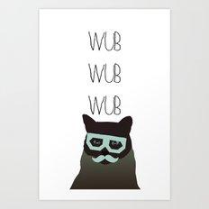 dubstep cat Art Print