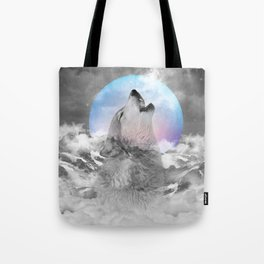 Maybe the Wolf Is In Love with the Moon Tote Bag