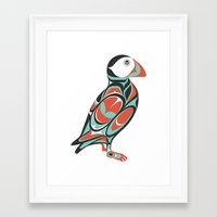 puffin Framed Art Prints featuring Puffin by Siggi Odds