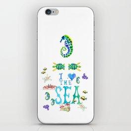 I Love the Sea iPhone Skin