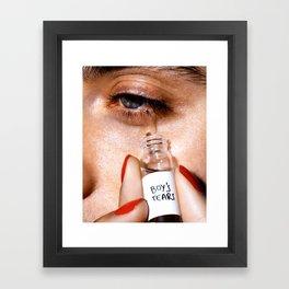 Boy's Tears Framed Art Print