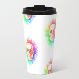 Skulls Rainbow Colorful life Travel Mug