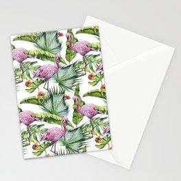 Flamingo Jungle #society6 #buyart Stationery Cards