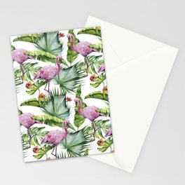 Flamingo Jungle #society6 #buyart Stationery Cards