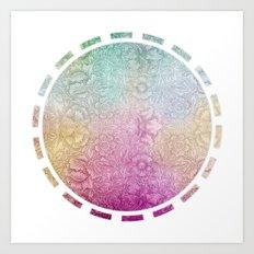SUMMER CIRCLE Art Print