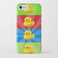 duck iPhone & iPod Cases featuring duck by mark ashkenazi