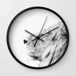 Lion, Animal, Minimal, Trendy decor, Nursery, Interior, Wall art, Photo Wall Clock