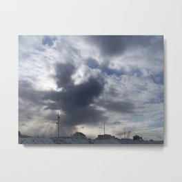 Witch in the clouds Metal Print