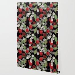 Cherry Charm, Imitation of glass Wallpaper