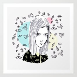 you are my geometric desire... Art Print