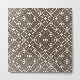Crossing Circles - Cocoa Metal Print