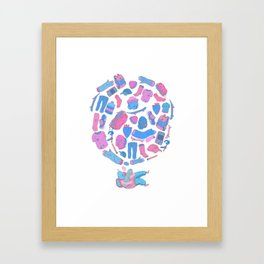 dream about skateboad! Framed Art Print