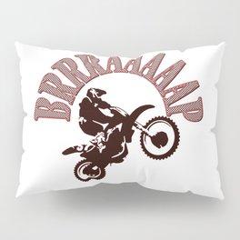 Brrraaaaap Red Checkered Flag Moto Language Pillow Sham