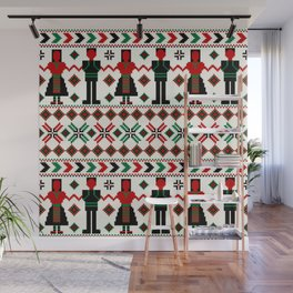 Decorative background with traditional motifs Wall Mural