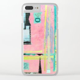 Abstract Art - Weaving Time Clear iPhone Case