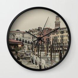 Rialto, Venezia (Colors) Wall Clock