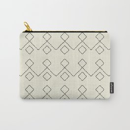 Embroided pattern Carry-All Pouch