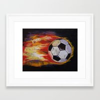 soccer Framed Art Prints featuring Soccer by Michael Creese