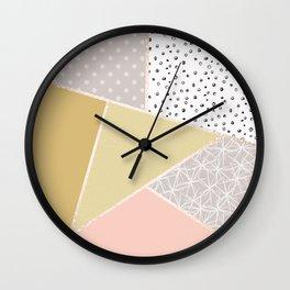 Abstract geometric pattern . Wall Clock