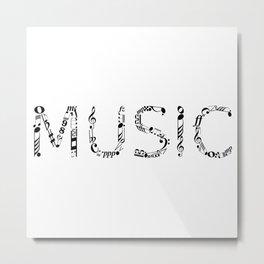 Music typo Metal Print