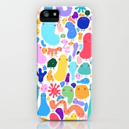 Bacterial world iPhone Case