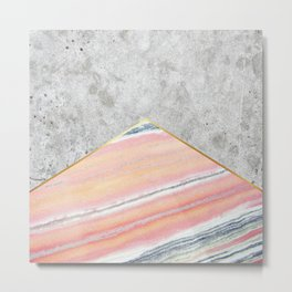 Concrete Arrow Pink Marble #289 Metal Print