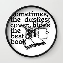 Sometimes, the dustiest cover hides the best book Wall Clock