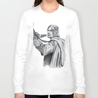 gondor Long Sleeve T-shirts featuring The Horn of Gondor by Christine Margeson