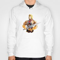 he man Hoodies featuring Polygon Heroes - He-Man by PolygonHeroes