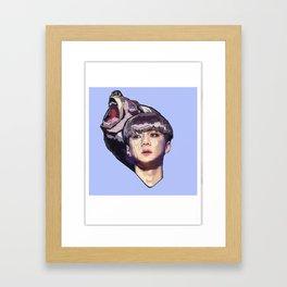 Pixelated glitch Framed Art Print
