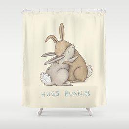 Hugs Bunnies Shower Curtain