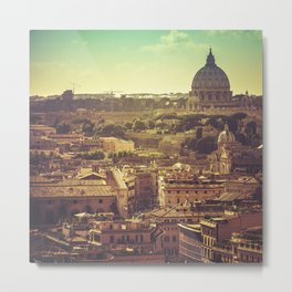 st. peter in rome aerial view Metal Print