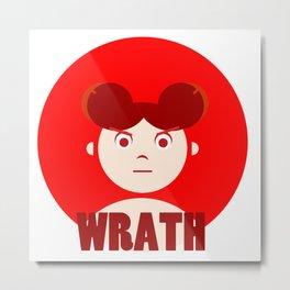 Wrath - 7 deadly cartoon sins Metal Print