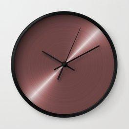 Pale Rose Gold Metal Wall Clock
