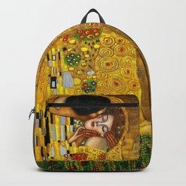 Gustav Klimt portrait The Kiss & The Golden Tears (Freya's Tears) No. 1 Backpack