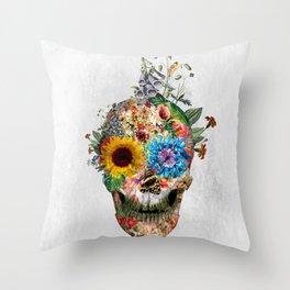 Skull - Punks Not Dead II Throw Pillow