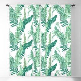 Native Ferns, Vintage Tropical Blackout Curtain