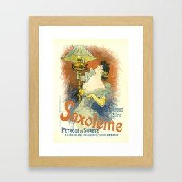 Saxoleine Vintage French Advertising Framed Art Print
