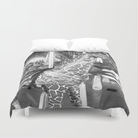 carousel Duvet Covers featuring Carousel by raven's_revelation_city_graphics