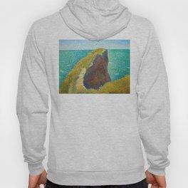 Le Bec du Hoc Grandcamp Georges Seurat - 1885 Impressionism Modern Populism Oil Painting Hoody